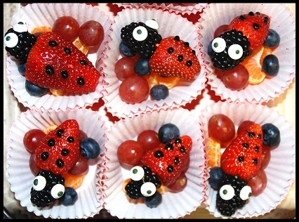 healthy valentine's day snacks for kids | lady bug love, Ideas