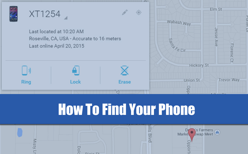 how to find my phone with Google Android