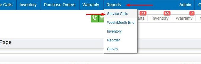reports tab