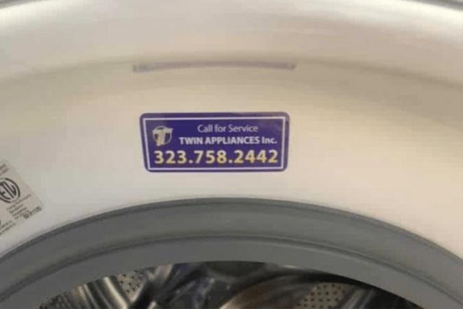 appliance stikcers